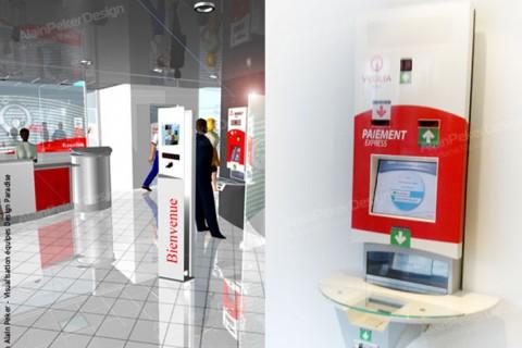 Veolia Eau  Réunion I Design espace accueil agence Siège St Denis de la Réunion