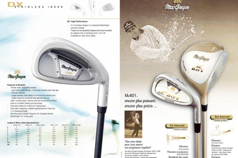 MacGregor Golf Europe : Création des collections Europe et supports de communication print et web