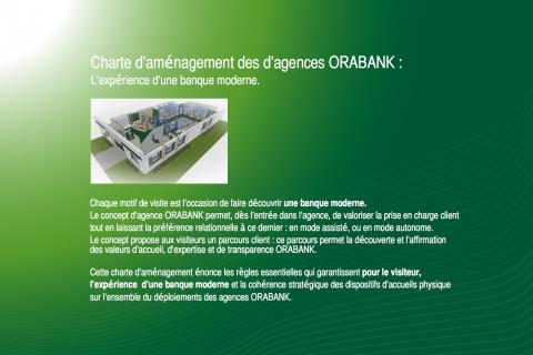 Oragroup I Création graphique charte d'aménagement des agences Orabank Afrique