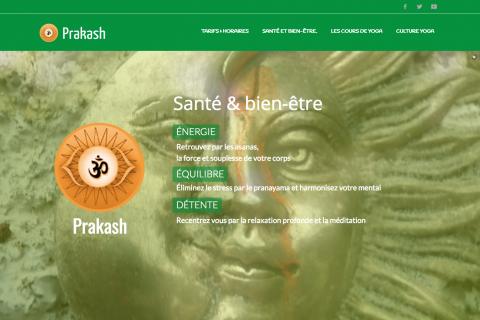 Prakash Yoga I Accompagnement, identité & web Design
